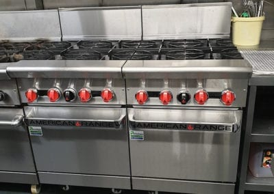 American range cooker hob and hoven for commercial kitchen Prokitchen catering equipment and supplies