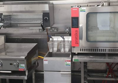 Banks deep fryer and Pratika Grill oven in commercial kitchen Prokitchen
