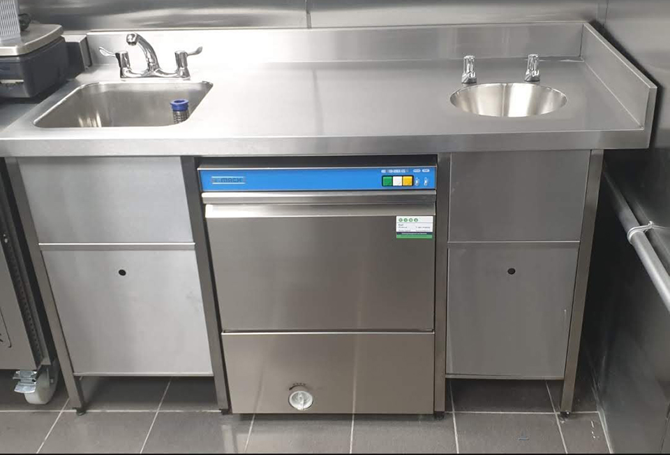 Dual kitchen sink for business Prokitchen catering equipment and supplies