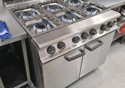 Gas hop for commercial kitchen with large oven Prokitchen catering equipment and supplies
